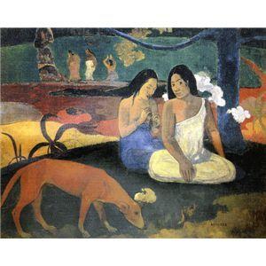 世界の名画シリーズ、最高級プリハード複製画 ポール・ゴーギャン作 「アレアレア」 - 拡大画像