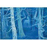 世界の名画シリーズ、プリハード複製画 東山魁夷作 「白馬の森」