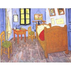 世界の名画シリーズ、最高級プリハード複製画 ヴィンセント・ヴァン・ゴッホ作 「ゴッホの部屋」 - 拡大画像