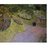 世界の名画シリーズ、プリハード複製画 ヴィンセント・ヴァン・ゴッホ作 「オーヴェールの庭」