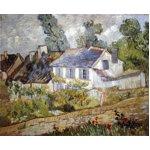 世界の名画シリーズ、プリハード複製画 ヴィンセント・ヴァン・ゴッホ作 「オーヴェールの家々」