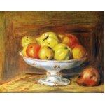 世界の名画シリーズ、プリハード複製画 ピエール・オーギュスト・ルノアール作 「リンゴ」