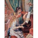 世界の名画シリーズ、プリハード複製画 ピエール・オーギュスト・ルノアール作 「ピアノに寄る娘達」