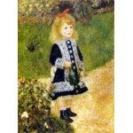 世界の名画シリーズ、プリハード複製画 ピエール・オーギュスト・ルノアール作 「じょうろを持つ少女」