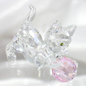 スワロフスキー 631856 子ネコ(ピンク) フィギュア - 拡大画像