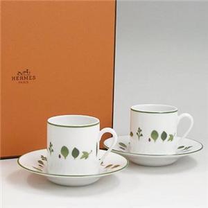 Hermes(エルメス) メスクラン コーヒーカップ&ソーサー90mlペア7917 - 拡大画像