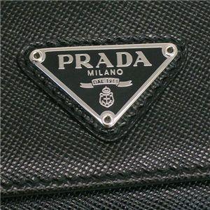 Prada (プラダ) 1M0222 SAFF ORO NERO 1 キーケースBK画像3