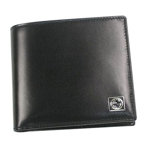 GUCCI(グッチ) 二つ折り財布(小銭入れ付) 190402 A490N 1000 ブラック - 拡大画像