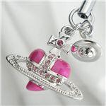 Vivienne Westwood(ヴィヴィアンウエストウッド) 携帯ストラップ 21965021001DIAMAN HEA ピンク