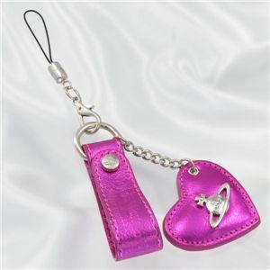 Vivienne Westwood(ヴィヴィアンウエストウッド) 携帯ストラップ 4532 PELLELAMINATA ピンク - 拡大画像