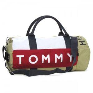 TOMMY HILFIGER(トミーヒルフィガー) ボストンバッグ 390532 HARB.POINT BT BEWT ベージュ/ホワイト