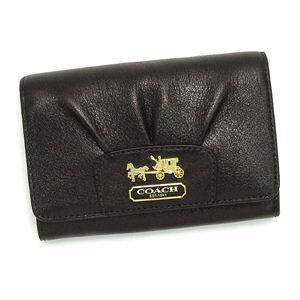 COACH(コーチ)二つ折り財布(小銭入れ付)41974ダークブラウン