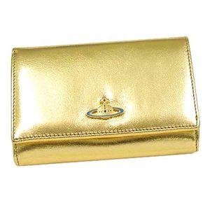 Vivienne Westwood(ヴィヴィアン ウエストウッド) 二つ折り財布(L字ファスナー) NAPPA 2232 ゴールド