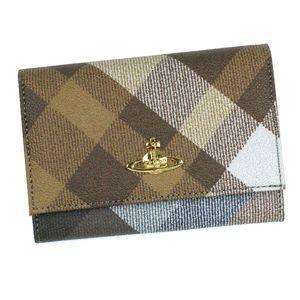 Vivienne Westwood(ヴィヴィアン ウエストウッド) 二つ折り財布(小銭入れ付) DERBY 746 ブラウン