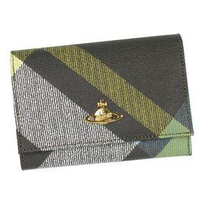 Vivienne Westwood(ヴィヴィアン ウエストウッド) 二つ折り財布(小銭入れ付) DERBY 746 ダーク.カーキー