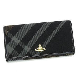 Vivienne Westwood(ヴィヴィアン ウエストウッド) 長札財布 WINTER TARTAN 1032 ブラック
