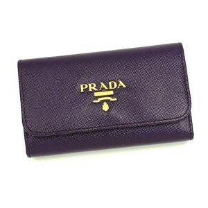 PRADA(プラダ) キーケース 1M0222 SAFFIANO METAL ORO バイオレット - 拡大画像