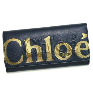 CHLOE(クロエ) 長財布 ECLIPSE 3PO303 LONG WALLET WITH FLAP INDIGO - 拡大画像