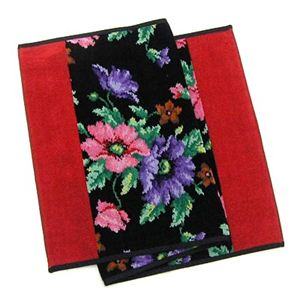 FEILER(フェイラー) タオル POPPIES BLACK RED GUEST TOWEL 37/80