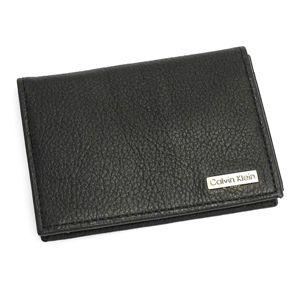 Calvin Klein (カルバン・クライン) 名刺入れ 79218 BUSINESS CARD CASE ブラックの写真1
