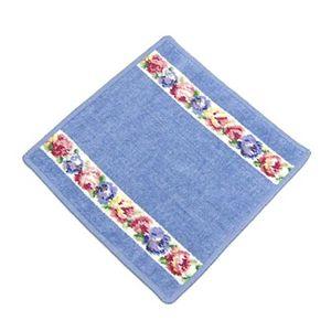 Feiler (フェイラー) タオル AIDA WHITE BLUE wash cloth 25/25 ブルーの写真1