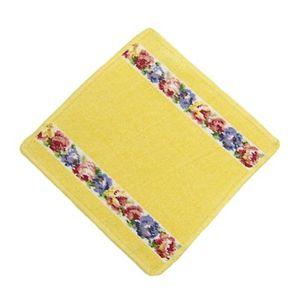 Feiler (フェイラー) タオル AIDA WHITE YELLOW wash cloth 25/25 イエローの写真1