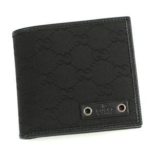 GUCCI(グッチ) 二つ折り財布(小銭入れ付) 224168 1000 ブラック