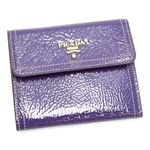 PRADA(プラダ) 三つ折り財布(小銭入れ付) VERNICE 1M0170 ライトパープル【送料無料】