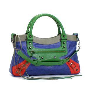 Balenciaga(バレンシアガ) ショルダーバッグ 9 103208 CLASSIC FIRST 4562 ベージュ/ブルー - 拡大画像
