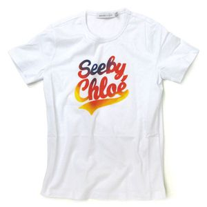SEE BY CHLOE(シーバイクロエ) Tシャツ 461147 A00 ホワイト 40