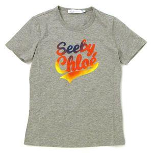 SEE BY CHLOE(シーバイクロエ) Tシャツ 461147 C022 グレー 40