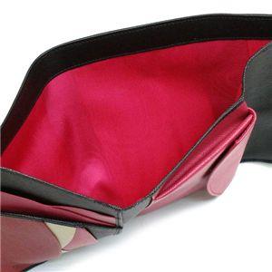 Prada(プラダ) 三つ折り財布(小銭入れ付) SAFFIANO MULTICOLOR 1M0510 F0002 ブラック/レッド画像3