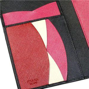 Prada(プラダ) 三つ折り財布(小銭入れ付) SAFFIANO MULTICOLOR 1M0510 F0002 ブラック/レッド画像4