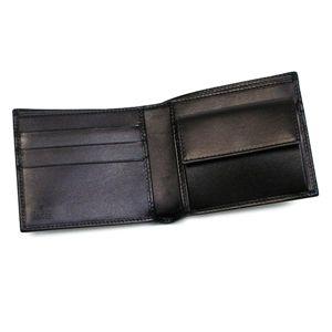 Gucci(グッチ) 二つ折り財布(小銭入れ付) GUILLOCHET 233078 GUILLOCHET 1000 ブラック