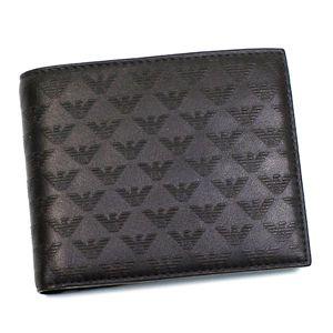 Emporio Armani(エンポリオ・アルマーニ) 二つ折り財布(小銭入れ付) YC043 YEM122 87131 ダークブラウン - 拡大画像