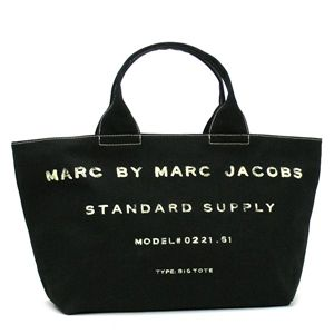 MARC BY MARC JACOBS(マークバイマークジェイコブス) トートバッグ STANDARD SUPPLY CLAS 2/M393036 BIG TOTE COTTON BASE PU 1 ブラック