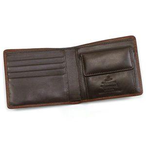 Vivienne Westwood(ヴィヴィアンウエストウッド) 二つ折り財布(小銭入れ付) STONEAGE 730 カーキーの写真2