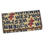 【送料無料】Vivienne Westwood(ヴィヴィアンウエストウッド) 長財布 STONEAGE 1032 ベージュ