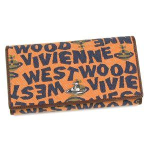 Vivienne Westwood(ヴィヴィアンウエストウッド) 長財布 STONEAGE 1032 オレンジ