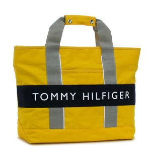 TOMMY HILFIGER トートバッグ OUTBACK L400357(L500081) TOTE 700 イエロー