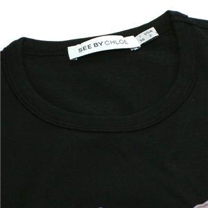 SEE BY CHLOE(シーバイクロエ) Tシャツ 461149 C74 ブラック 38