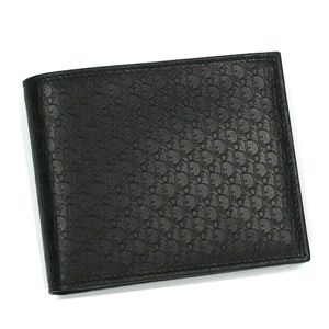 Christian Dior(クリスチャン ディオール) 二つ折り財布(小銭入れ付) DIOR METROPOLE 2DIBC001DIO 900 ブラックの写真1