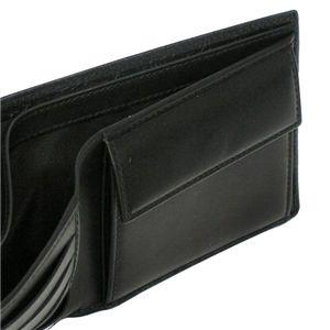 Christian Dior(クリスチャン ディオール) 二つ折り財布(小銭入れ付) DIOR METROPOLE 2DIBC001DIO 900 ブラックの写真3