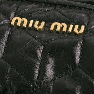 MIUMIU(ミュウミュウ) ショルダーバッグ NAPPA TRAPUNTATA RT0448 F0002 ブラック画像4
