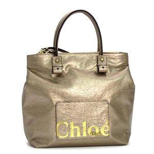 Chloe(クロエ) トートバッグ ECLIPSE 3SO456 Tote 19E ベージュ/ゴールド - 拡大画像