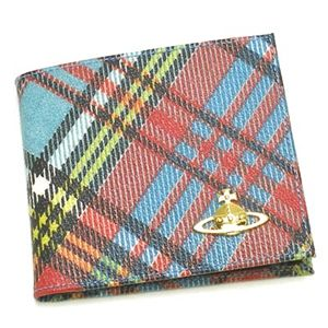 Vivienne Westwood(ヴィヴィアンウエストウッド) 二つ折り財布(小銭入れ付) DERBY 730 ブルー - 拡大画像
