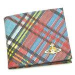 Vivienne Westwood(ヴィヴィアンウエストウッド) 二つ折り財布(小銭入れ付) DERBY 730 ブルー