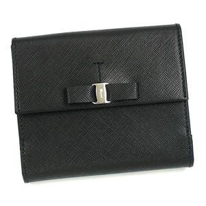 Ferragamo(フェラガモ) Wホック財布 VARA ICONA 22A951 434071 ブラック