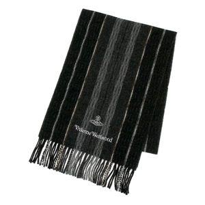 Vivienne Westwood(ヴィヴィアンウエストウッド) マフラー S10/F414 5 ブラック - 拡大画像