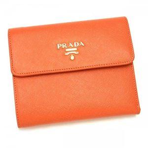 Prada(プラダ) 三つ折り財布(小銭入れ付) SAFFIANO METAL ORO 1M0170 F0311 SALMON【送料無料】